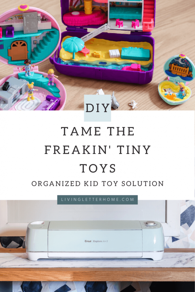 Solution to organize tiny kid toys #organizingideas #organizekidtoys #organizetinytoys #smalltoyorganization