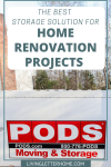 What do you do with all your stuff during a renovation? Make your renovation easier with storage in your driveway! #ad #PODSMovingandStorage