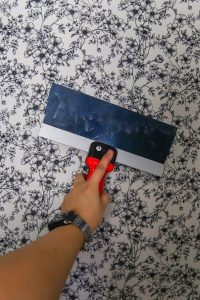temporary fabric wallpaper DIY