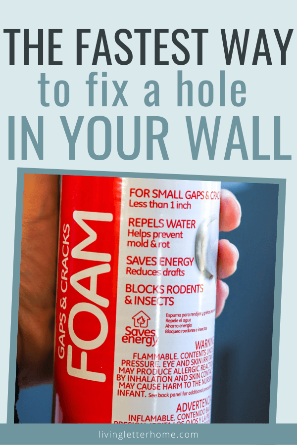 How to fix a hole in drywall without patches