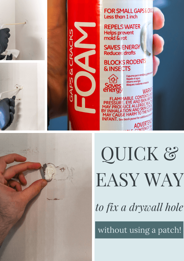How To Patch A Hole In Drywall (My Favorite Trick!)