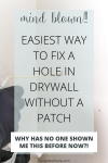 You won't BELIEVE this trick!! How to patch a hole in drywall the quick and easy way