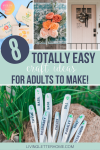 8 easy crafts for adults to make! Don't let the kids have all the fun #cricut created AD