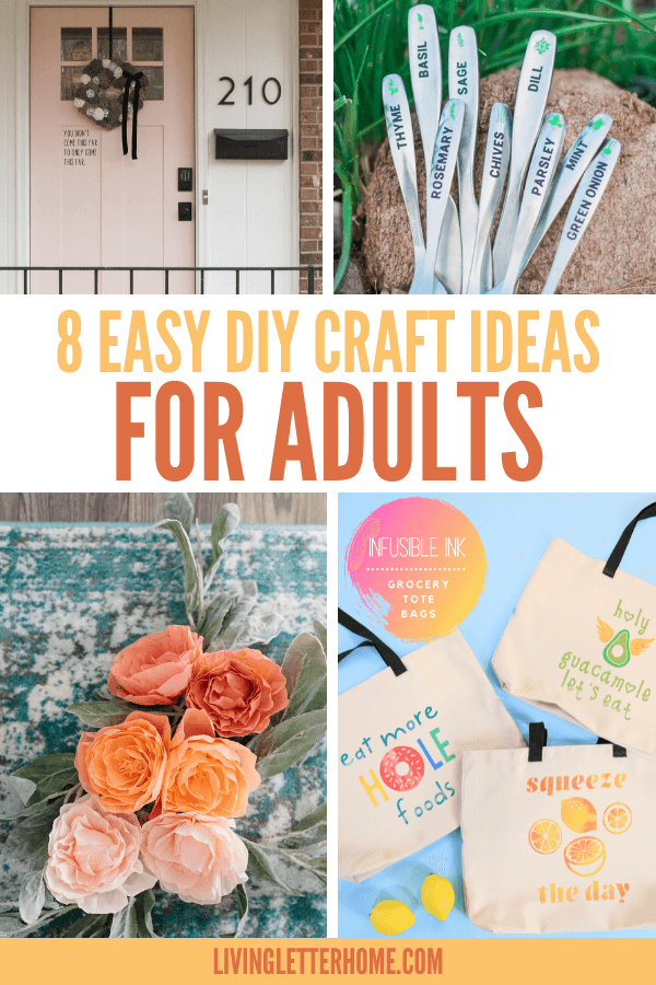 8 SUPER easy crafts for adults to try! No need to let kids have all the fun! ad #cricutcreated