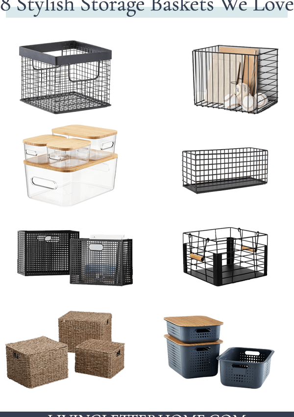 8 stylish decorative storage baskets on a budget!