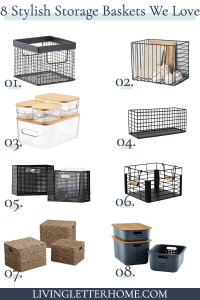 Super stylish storage baskets that are pretty, yet functional!