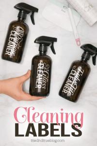 DIY cleaner labels