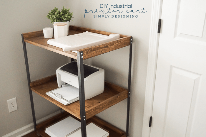 DIY Industrial Style Printer Table