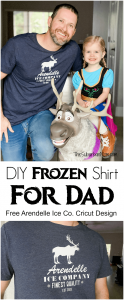 frozen dad tshirt