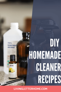DIY homemade cleaner recipes that actually work!
