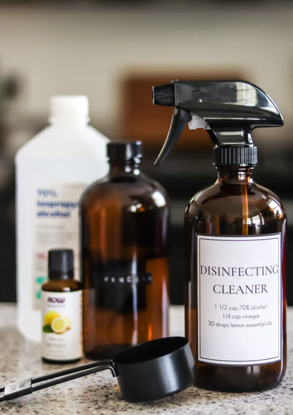 DIY disinfectant spray ingredients