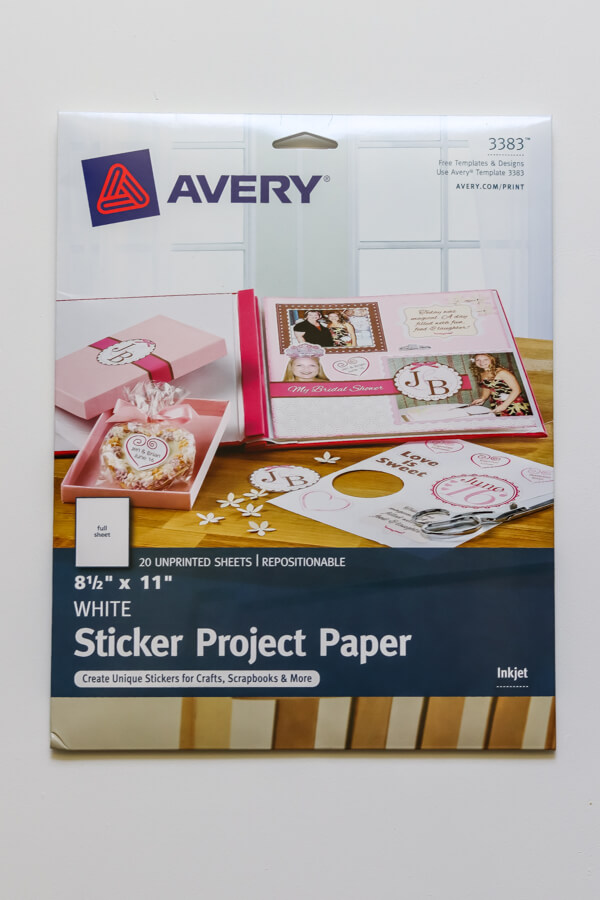 Avery sticker paper