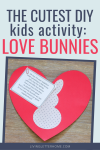 These DIY love bunnies are THE CUTEST!! What a great way for a neighborhood scavenger hunt, but also a great neighbor gift idea!