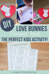 Make your own DIY love bunnies and have a neighborhood scavenger hunt with your little ones!