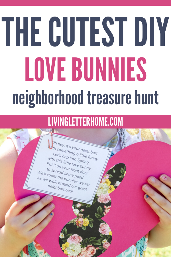 DIY love bunnies are a great spring outdoor kids activity and also a great neighbor gift idea!