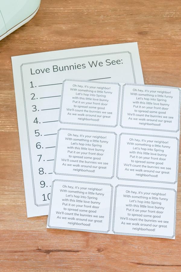 DIY love bunnies printable