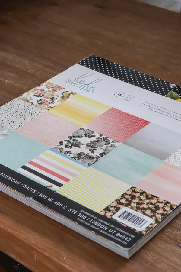 heidi swapp scrapbook paper hobby lobby