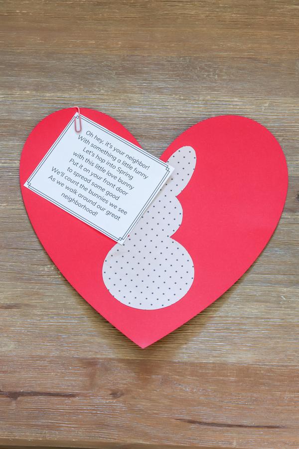 DIY love bunny neighbor gift