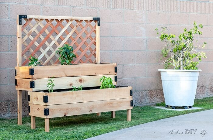 tiered raised garden bed