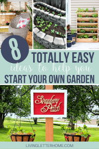 8 super amazing ideas to help you start a garden! Flowers, fruits or a veggie garden, you can DIY any of these projects whether you've got plenty of land or a simple apartment balcony!