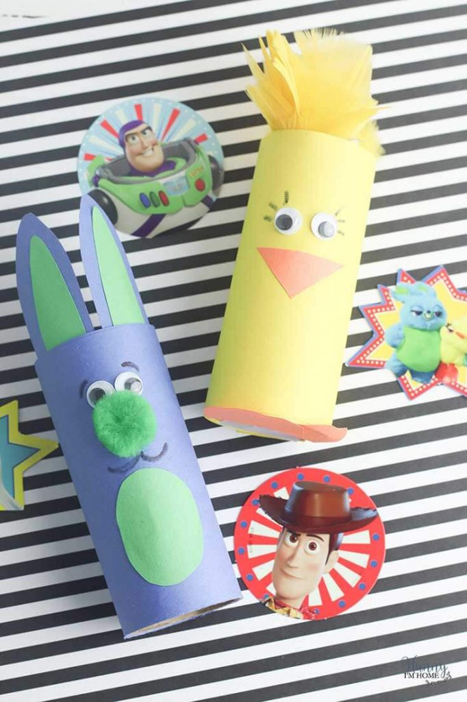 bunny and ducky toy story 4 toilet paper roll craft