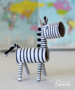 cardboard tube zebra