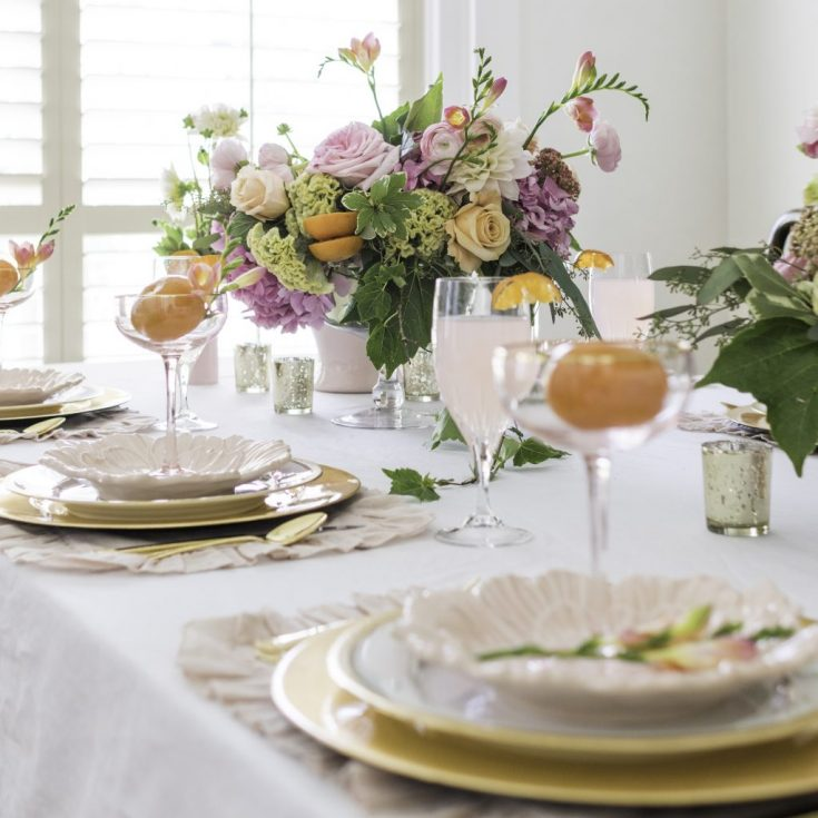 5 Tips to create a Beautiful Summer Citrus Tablescape