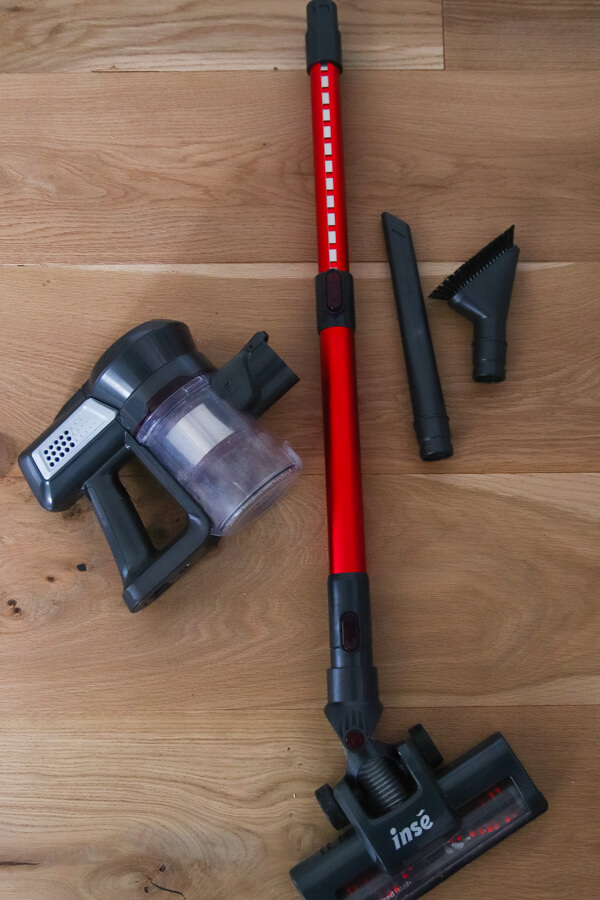 INSE N6 cordless stick vacuum from Amazon pieces
