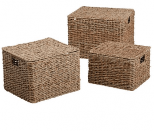 water hyacinth woven basket