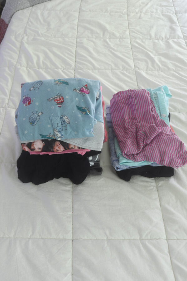 konmari folding method pants and shorts