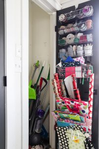 cleaning closet before