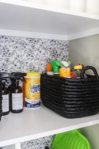 black storage basket west elm