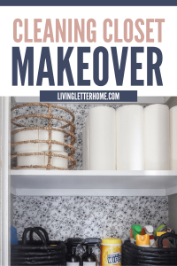 An organized cleaning closet makeover you can do in a weekend for SO CHEAP!
