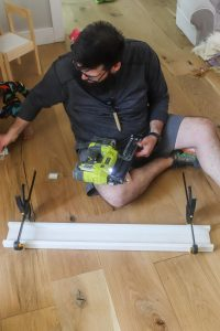 creating a header for craftsman style window trim