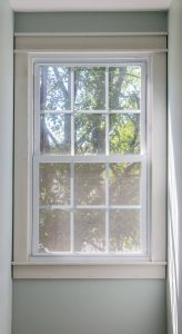 craftsman style window trim completed