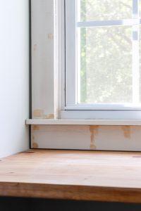 using wood filler on window trim