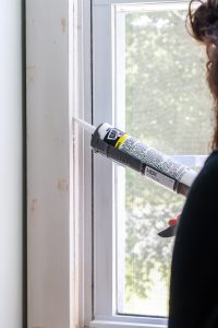 caulking your window trim