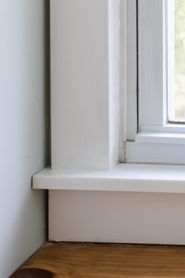 closeup of craftsman window trim