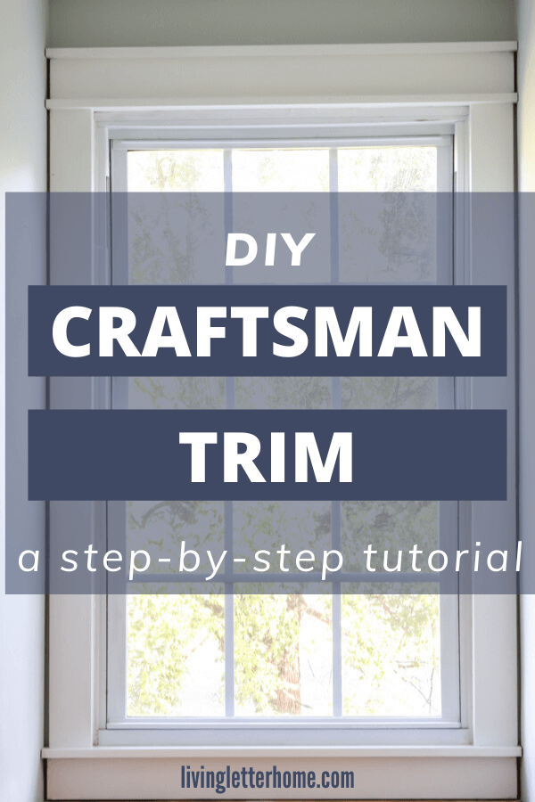 How to install your own DIY craftsman style trim! Great for a beginner woodworker! via Living Letter Home