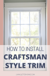 This craftsman style window trim is a great weekend upgrade you can make at home! via Living Letter Home