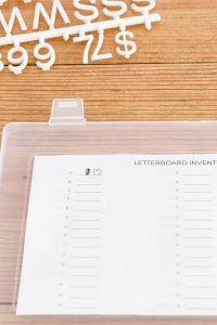letterboard letters inventory free printable