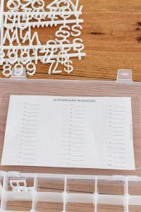 letterboard inventory free printable