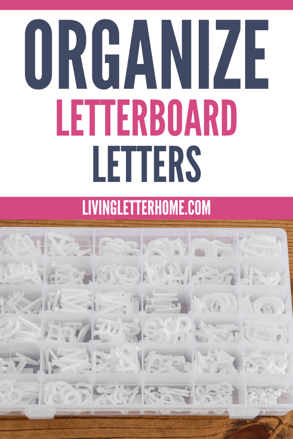 The easiest way to organize letters from your letterboard via Living Letter Home