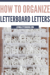 Super cheap way to organize letters from a letter board via Living Letter Home