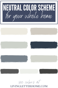 Neutral color scheme for your whole home