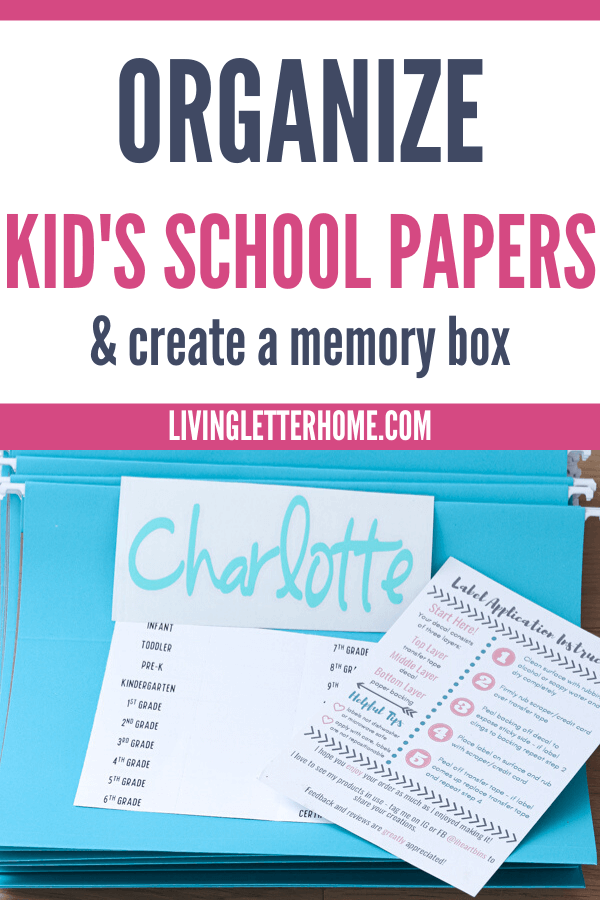 Organize kid's school papers and tame the paper clutter NOW! via Living Letter Home
