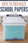How to organize kids school papers and make a memory box via Living Letter Home