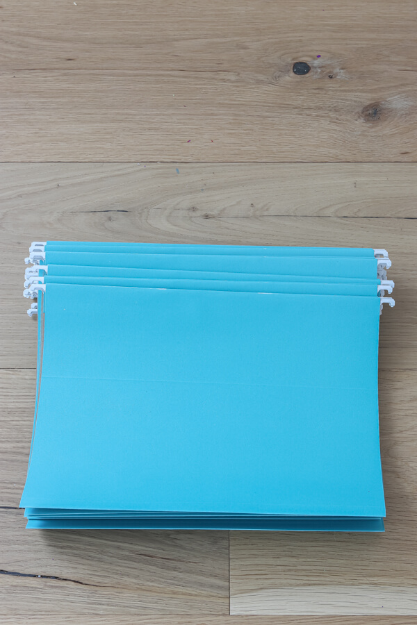 teal file folders