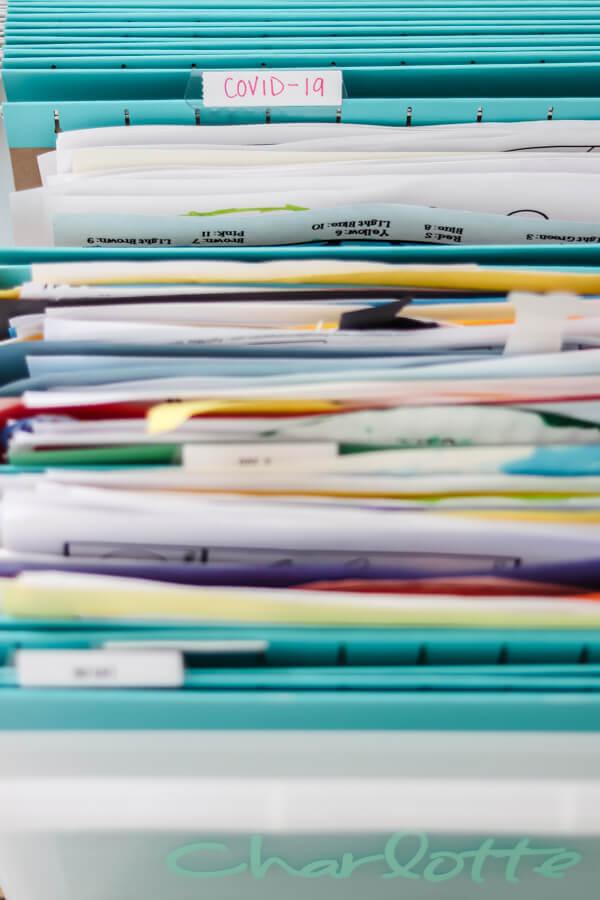 file box tabbed folders