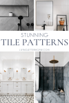 Don't lay tile again until you see these stunning ways to lay tile in your own home! via Living Letter Home